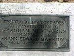 Frank Edward Barrow Plaque