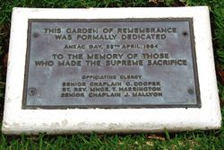 Dedication Plaque: 24-January-2016