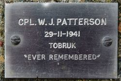 Cpl Patterson Plaque: 24-January-2016