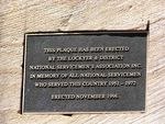 Gatton National Servicemens Memorial Plaque