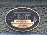 Customs House Plaque : April 2014