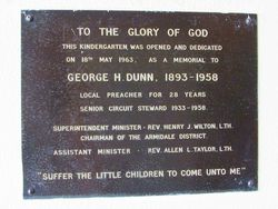 Dunn Plaque: 22-January-2016