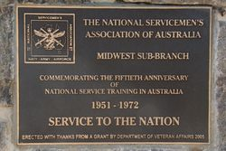 National Service Plaque:18-August-2015