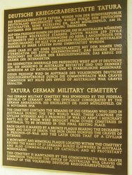 War Cemetery Plaque : 19-October-2014