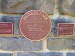 Pioneer Park Plaque : November 2013