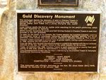Gold Discovery Monument-Plaque