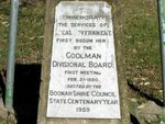 Goolman Divisional Board Inscription Closeup