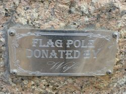 Flag Pole Plaque : 24-October-2014