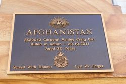 Afghanistan Plaque: 01-March-2016