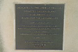 Dedication Plaque: 26-April-2016
