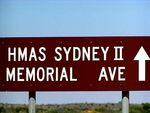 HMAS Sydney 2 Memorial Avenue Sign