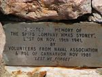 HMAS Sydney II Dedication Plaque
