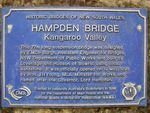 Hampden Bridge Bicentennial Plaque