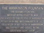 Hankinson Fountain Plaque : 04-August-2014