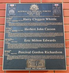 Harry Whittle, Herbert Casson, Eric Edwards & Percival Richardson