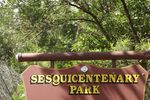 Sesquicentenary Park Sign : July-2014