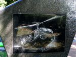 Helicopter Plaque Closeup