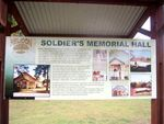 Soldiers Memorial Hall Info Board : 26-09-2012