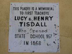 Tisdall Plaque : 29-October-2014
