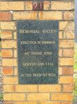 Heywood Hospital Memorial Gates : 11-June-2011