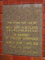WW1 Plaque: 11-March-2016