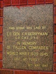 WW2 Plaque: 11-March-2016