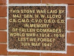 WW1 Plaque:11-March-2016