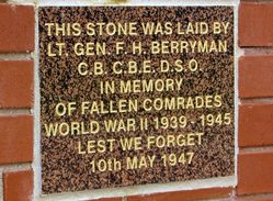 WW2 Plaque:11-March-2016