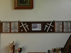 24-May-2016 : (Tim Fitzgerald ) : Name plaques at Newstead Historical Society