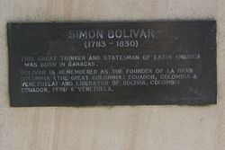 Bolivar Plaque : 02-June-2015