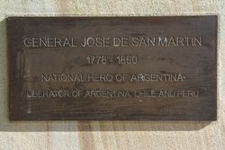 San Martin Plaque: 02-June-2015