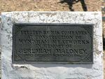 Jeremiah Maloney PLaque