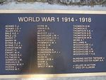 Honour Roll WW1 : 19-December-2013