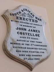 John James Costelloe Memorial Tablet