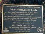 Joice Nankivell Loch Plaque