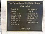 Kalbar War Memorial WW1 fallen