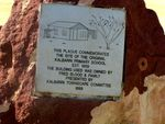 Kalbarri School Site  Inscription