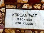 Kalbarri War Memorial Plaque Korea