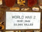 Kalbarri War Memorial Plaque WW2