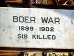 Kalbarri War Memorial Plaque - Boer