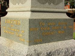WW1 Inscription : 22-April-2015