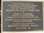 Kelpie Inscription Plaque : 27-03-2014