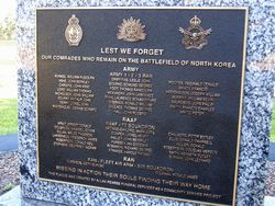 Missing in Action Plaque : 17-September-2014