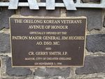Korean Avenue of Honour Inscription : October 2013