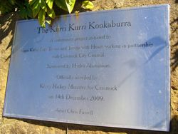 Kookaburra Plaque : 11-September-2014