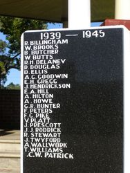Honour Roll WW2 : 11- September-2014