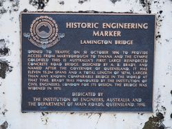 Historic Engineering Plaque: 28-October-2015