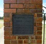 Landsborough & District R.S.L. Memorial Park Gates : 10-March-2012