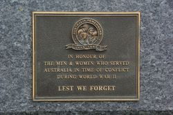 Australia Remembers : 12-September-2014