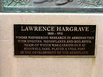Lawrence Hargrave Memorial Inscription
